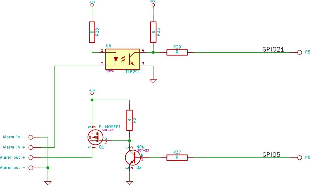 TP-C516 Alarm circuitry